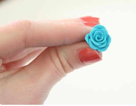 creare trandafiri lut polimeric fimo sau cernit
